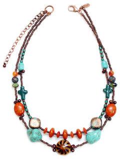 Treska Women's Santa Fe 2-Row Beaded Necklace , , hi-res