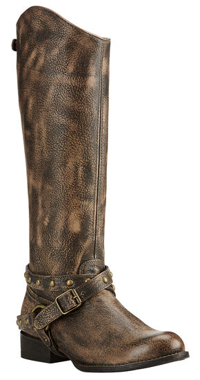 Ariat Brooklyn Brown Manhattan Fashion Cowgirl Boots - Round Toe , Brown, hi-res