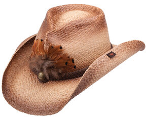 Peter Grimm Bocholt Straw Cowboy Hat, Brown, hi-res