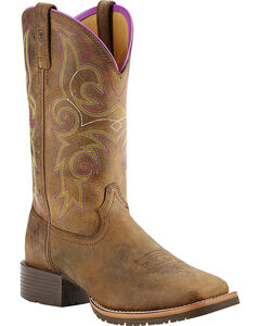 Ariat Women's Hybrid Rancher Cowgirl Boots - Square Toe, , hi-res