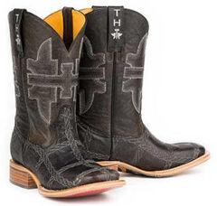 Tin Haul Boys' 8-Ball Rope Burn Cowboy Boots - Square Toe, , hi-res