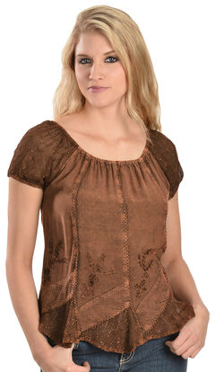 Scully Peasant Style Top, , hi-res