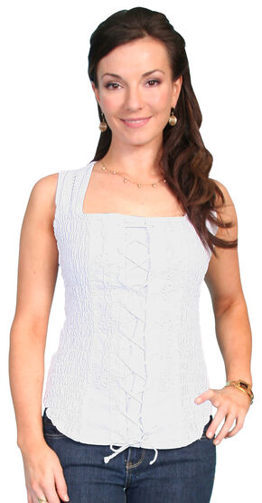 Scully Peruvian Cotton Laced Tank Top, , hi-res