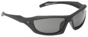 5.11 Tactical Burner Full Frame Sunglasses (Polarized Lens), Black, hi-res