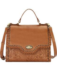 American West Women's Golden Tan Hidalgo Top Handle Convertible Flap Bag, , hi-res