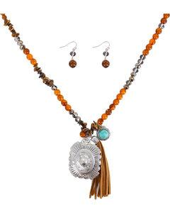 Shyanne Women's Beaded Fringe Jewelry Set , , hi-res