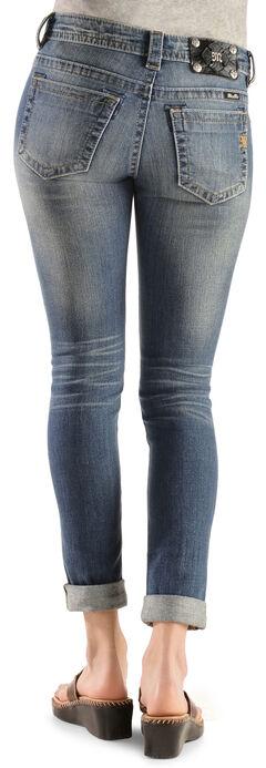 Miss Me Distressed Cuffed Skinny Jeans, , hi-res