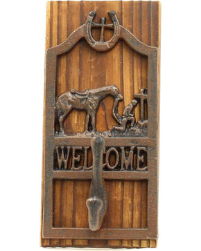 M&F Western Cowboy Prayer Welcome Wall Hook, Rust, hi-res