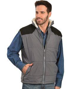 Wrangler Soft Shell Sherpa Collar Vest, , hi-res
