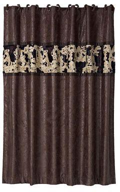 Caldwell Cowhide Shower Curtain, , hi-res