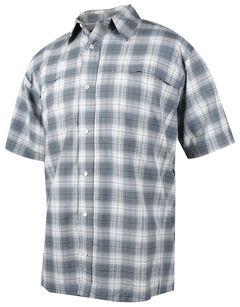 Tru-Spec Men's Grey Plaid 24-7 Cool Camp Shirt , , hi-res