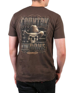 Cody James Country to the Bone Short Sleeve T-Shirt, Chocolate, hi-res