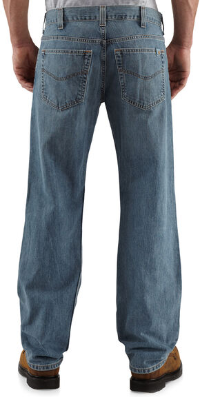 Carhartt Loose Fit Straight Leg Work Jeans, Light Blue, hi-res