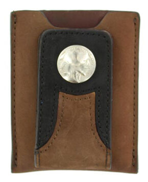 Nocona Trucker Money Clip Wallet, Med Brown, hi-res