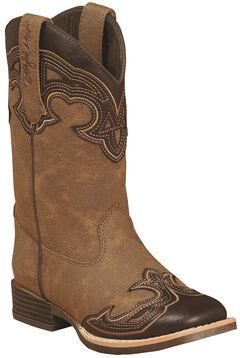 Blazin Roxx Girls' Samantha Zipper Cowgirl Boots - Square Toe, , hi-res