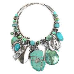 Treska Women's Mykonos Chunky Dangle Coil Necklace , , hi-res