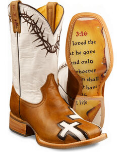 Tin Haul Women's Between Two Thieves & John 3:16 Cowgirl Boots - Square Toe, , hi-res