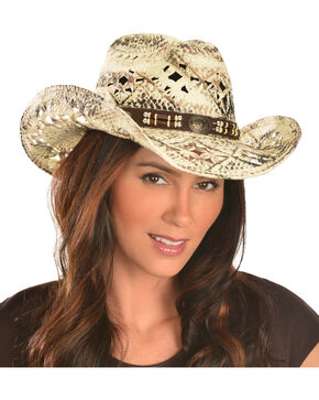 Bullhide Girl Next Door Straw Cowgirl Hat, Brown, hi-res