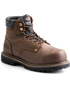 """Dickies Men's Brown Ratchet 6"""" Work Boot - Steel Toe, , hi-res"""