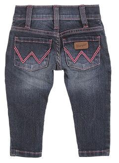 Wrangler Infant/Toddler Girls' Indigo Jeans - Skinny , , hi-res