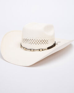 Bullhide Silver City 100X Shantung Panama Straw Cowgirl Hat, , hi-res