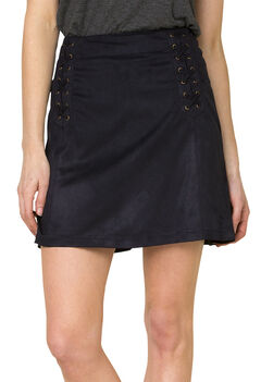 Miss Me Women's Black Faux Suede Skirt, , hi-res