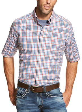Ariat Men's Coral Maud Short Sleeve Shirt , Red, hi-res