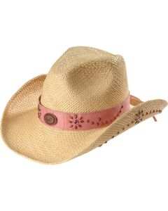 Bullhide Girls' Daughter of the West Straw Cowgirl Hat, , hi-res