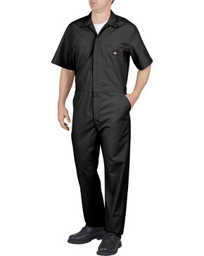 Dickies Short Sleeve Work Coveralls, Black, hi-res