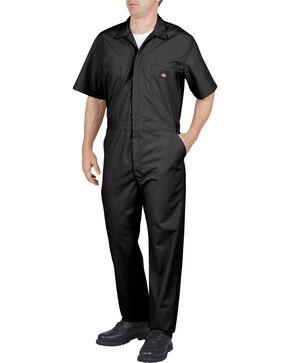 Dickies Short Sleeve Work Coveralls, Black, hi-res
