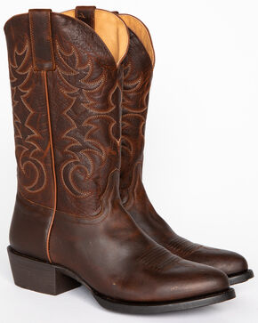 Cody James Men's Embroidered Performance Boots - Medium Toe, Brown, hi-res