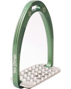 Tech Stirrups Green Iris Cross Country Irons , , hi-res