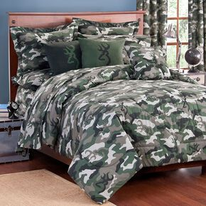Browning Green Buckcamo Queen Comforter Set, Camouflage, hi-res