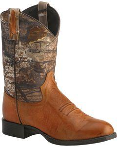 Old West Children's Realtree Green Camo Cowboy Boots, , hi-res