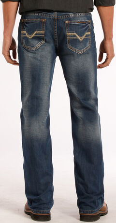 Rock and Roll Cowboy Double Barrel Relaxed Fit Dark Vintage Jeans - Straight Leg , , hi-res