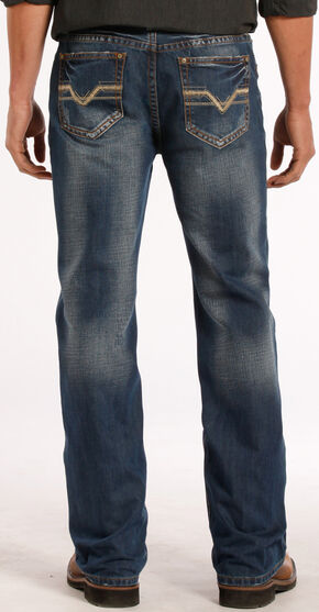 Rock and Roll Cowboy Double Barrel Relaxed Fit Dark Vintage Jeans - Straight Leg , Denim, hi-res