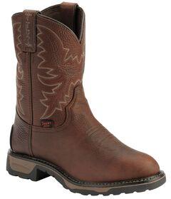 Tony Lama Boys' Briar Pitstop Western Work Cowboy Boots - Round Toe, , hi-res