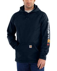 Carhartt Men's Flame Resistant Rugged Flex Graphic Logo Fleece Jacket - Big & Tall, , hi-res