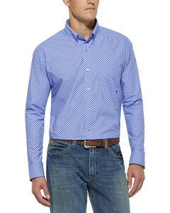 Ariat Purple Print Thurston Long Sleeve Shirt, , hi-res
