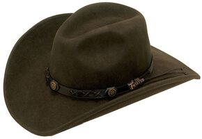 Twister Dakota Crushable Felt Hat, Brown, hi-res