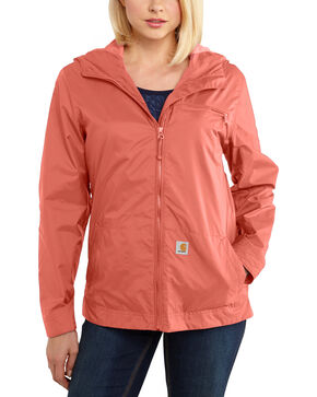 Carhartt Women's Waterproof Rockford Windbreaker Jacket, Coral, hi-res