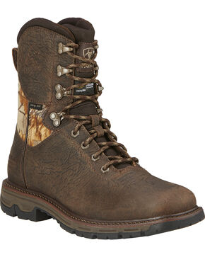 Ariat Men's Conquest H2O Waterproof 800g Insulated Hunting Boots, Brown, hi-res