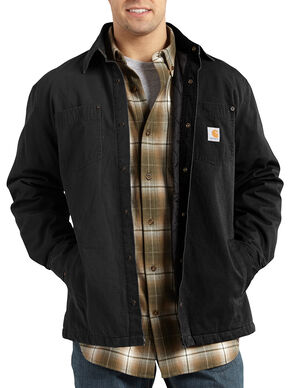 Carhartt Chatfield Ripstop Shirt Jacket, Black, hi-res