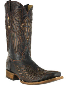 Corral Men's Wing and Cross Western Boots - Square Toe , , hi-res