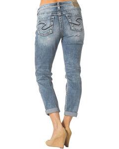 Silver Women's Boyfriend Jeans, , hi-res