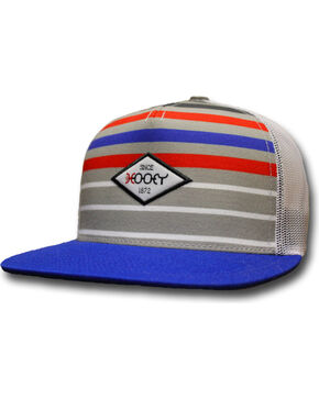 Hooey Men's Method Striped Trucker Cap, White, hi-res