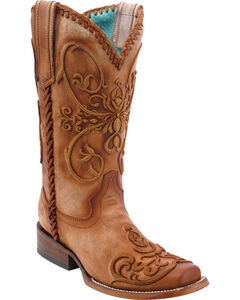 Corral Women's Whip Stitch Cowgirl Boots - Square Toe, , hi-res