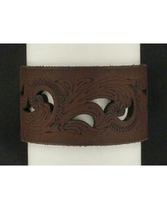 Blazin Roxx Cutout Leather Cuff Bracelet, , hi-res