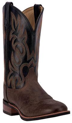 Laredo Men's Goshen Brandy Saddle Vamp Western Boots - Round Toe, , hi-res