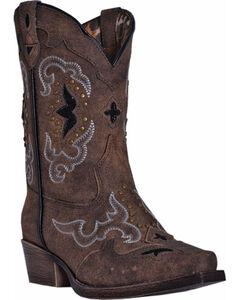 Dan Post Girls' Rulay Cowgirl Boots - Snip Toe, , hi-res